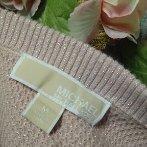 Michael Kors NWOT Sweater Med. Pink Peep Shoulder